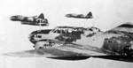 G4M bombers in flight, date unknown