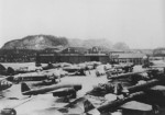 J1N1-S, G4M, C6N, and D4Y aircraft at Yokosuka Naval Air Depot, Japan, late 1945, photo 2 of 2