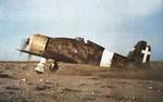 G.50 aircraft at a makeshift airfield in Libya, circa 1940-1941