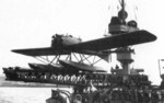 GL-813 HY floatplane on a ship catapult, 1930s