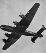Halifax B.II Series I bomber of No. 10 Squadron RAF in flight, circa Apr-May 1942