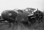 Abandoned B-25J bomber of 822nd Bomb Squadron of 38th Bomb Group of US 5th Air Force, 25 Jan 1949