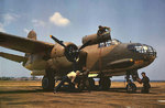A-20C Havoc being serviced at Langley Field, Virginia, United States, Jul 1942
