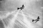Gun camera footage from a Spitfire Mk I fighter of No. 609 Squadron RAF, showing its tracer ammunition hitting a German He III aircraft over Filton, Bristol, England, United Kingdom, 25 Sep 1940
