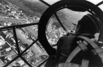 Aerial view of a Polish city through the gunner