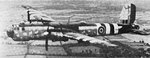 A captured He 177 A-5 with British markings in flight, circa Sep 1944 or later