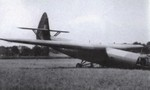 Horsa glider on its nose after landing mishap, date unknown