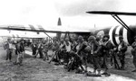 US troops preparing to board Horsa gliders for Normandy, France assault, England, United Kingdom, Jun 1944, photo 1 of 2