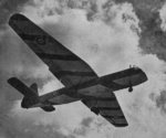 Horsa glider on landing approach with all flaps down, date unknown