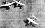 Horsa gliders on the ground near Arnhem, the Netherlands during Operation Market Garden, Sep 1944, photo 1 of 2; note tail sections removed for quick exit of troops