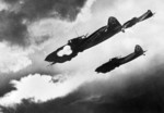 Soviet Il-2 aircraft attacking a German motorized column near Kursk, Russia, Jul 1943