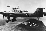German Ju 87 Stuka dive bombers in flight, 29 May 1940