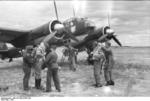 Crew of a Ju 88 A-1 bomber of I./KG 51