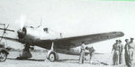 Royal Thai Air Force Ki-30 aircraft resting at an airfield, circa Sep-Dec 1945, photo 2 of 2