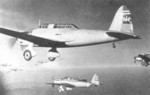 Ki-32 aircraft flying in formation, circa late 1930s