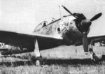 Ki-43-II Hayabusa fighter at rest, circa 1942