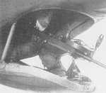 Ventral machine gun position of a Ki-48 light bomber, date unknown