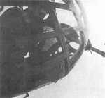Nose machine gun position of a Ki-48 bomber, date unknown