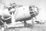 Close-up of the nose of a Ki-48 light bomber, date unknown