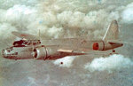 Ki-49 bomber in flight, date unknown