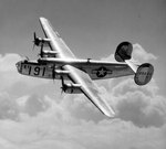 B-24D Liberator aircraft of Maxwell Field, Alabama in flight, Aug 1943-Jan 1947