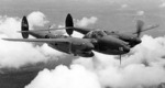 P-38F-1-LO Lightning aircraft in flight, 1942