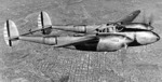 XP-38A prototype aircraft in flight, 1940-1942