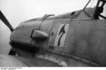Close-up view of the forward port side of a Bf 109 fighter, 1939-1940