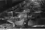 Ar 196 aircraft being built, 1939-1945; note Bf 109 fighter on left side