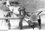 German armorers adjusting weapons of a Bf 109 fighter of JG 3, early 1941
