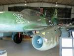 Me 262 Schwalbe jet fighter on display at Naval Air Station Joint Reserve Base Willow Grove, Horsham, Pennsylvania, United States, 2 Nov 2007, photo 3 of 6