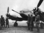 Me 410B-2 Hornisse aircraft, captured by Russian troops in East Prussia, spring 1945