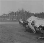 Me 410 aircraft at rest at an airfield, late 1945, photo 1 of 2