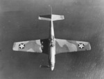 P-51A Mustang fighter in flight, viewed from the top, Oct 1940-May 1942