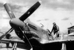 P-51B Mustang fighter in China, date unknown