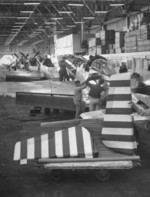 P-51 fighters being prepared for transfer to Republic of China Air Force, 1950s, photo 1 of 2