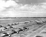 P-26 Peashooter fighters and B-18 Bolo bombers at Hickam Field, Oahu, US Territory of Hawaii, Jan 1940