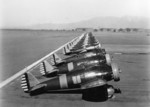 P-26 Peashooter fighters of USAAC 17th Pursuit Group at rest, March Field, California, United States, 18 Feb 1935