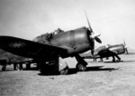 Chinese P-43 Lancer fighters at rest, Kunming, Yunnan Province, China, date unknown