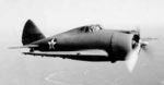 P-43 Lancer fighter in flight near Esler Field, Louisiana, United States, 9 Mar 1942