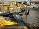 P-61C Black Widow and J1N1-S Gekko on display at Smithsonian Air and Space Museum Udvar-Hazy Center, Chantilly, Virginia, United States, 26 Apr 2009; Hurricane and B-29 Enola Gay in background