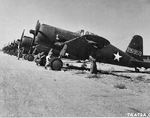 US P-66 Vanguard fighters at an airfield in Karachi, India, 25 Oct 1942