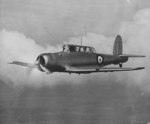 British Skua aircraft in flight, date unknown, photo 2 of 2