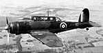 British Skua aircraft in flight, date unknown, photo 1 of 2