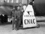 C-47 Skytrain aircraft of China National Aviation Corporation at rest in Kunming, Yunnan Province, China, date unknown