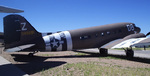 C-47 Skytrain, rear quarter view, Hill Aerospace Museum, Utah, Aug 2006