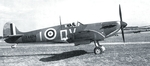 British Spitfire Mk I fighter of 19 Squadron RAF, 1940