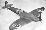 Spitfire Mk IA fighter in flight, date unknown