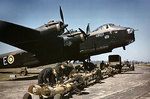 Stirling bomber N6101 of No 1651 Heavy Conversion Unit RAF, Waterbeach, Cambridgeshire, England, United Kingdom, Apr 1942