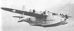 Sunderland Mk V in flight, circa late 1940s